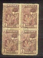 Malaya Malacca 1960 Penang 10c Block 4