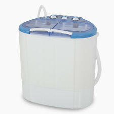 Portable White 3.6kg Washing Machine Compact Laundry Washer Dorm Spin Dry 7.9lbs