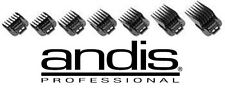 Andis Phat,Fade&Improved MASTER CLIPPER Blade Clip On Guide Guard Comb 7 pc Set