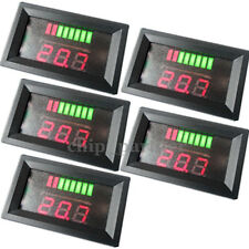 5x 12V ACID Lead Battery Charge Level Indicator Red Digital Capacity LED Tester
