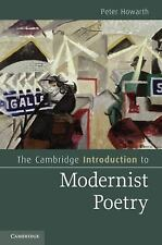 The Cambridge Introduction to Modernist Poetry Cambridge Introductions to Liter