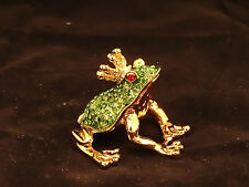 24K Gold Plated Small FROG Box / Trinket Ornament Gift