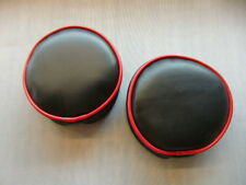 "Plain Black Red Piping 6"" Pathfinder Spot Light Covers"