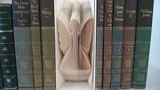 Angel Hand Folded Book Art Unique Birthday Inspirational Gift Neat Home Decor 3D