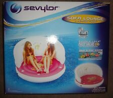 Sevylor®2 PERSON INFLATABLE SOFA LOUNGE FLOAT~NEW IN BOX raft Swimming pool