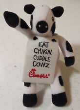 """LOOSE 2002 Summer Chick-Fil-A EAT CHIKIN CUDDLE COWZ 6"""" Plush Cow Chicken SglToy"""