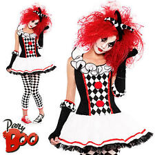 Harlequin Honey Ages 10 11 12 Girls Halloween Jester Fancy Dress Teens Costume