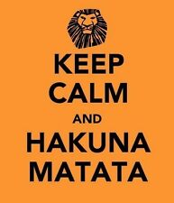 POSTER KEEP CALM AND HAKUNA MATATA RE LEONE LION KING SIMBA MOVIE CARTOON FOTO 1