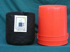 "Air & Water permeable, reuseable, foldable, portable 12"" soft sided plant pots!"