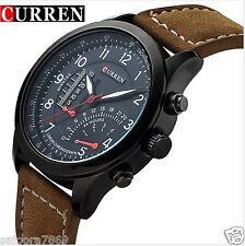 2016 New Fashion Curren Branded Wristwatch Leather Strap Military wrist Watch