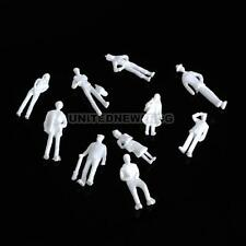 UN3F 100PCS Figures 1:75 Scaled Models Train Building People for Layout