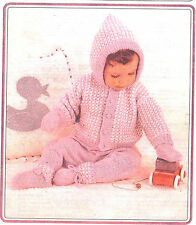 BABYS OUTDOOR SET KNITTED IN 8 PLY 18...23 INCH   (45..58CMS)  PATTERN. ONLY
