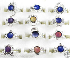 10pcs Wholesale Mix Design CHILD TO ADULT MOOD RING Adjustable BAND Temper RING