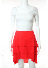 NWT BODY GLOVE Red Layered Ruffle Detail Swim Suit Skirt Cover Up Sz L $48