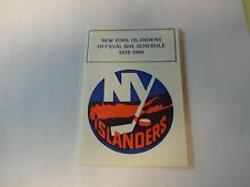 1979-80 New York Islanders Official NHL Schedule