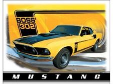 NEW Ford Mustang Boss 302 tin metal sign