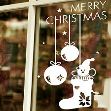 Snowflake Merry Christmas Snowman Socks Wall Sticker Decals Window Decor
