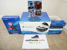 NEW SEALED Sony PlayStation VR Bundle PSVR PS 4 Virtual Reality + FOUR GAMES