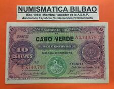 CAPE VERDE 10 CENTAVOS 5.11.1914 Pick 20 UNC @SEE SCAN@ BANKNOTE PORTUGAL CABO
