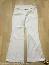NEXT SIZE 10R PASTEL PINK LADIES STRETCH PATTERNED FLARED TROUSERS 7R