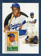JACKIE ROBINSON, Brooklyn Dodgers ~ GIANT-size postcard USPS/Paluso Artwork