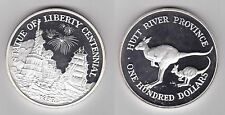 HUTT RIVER PROVINCE - RARE PROOF SILVER GIANT 6 oz 100$ COIN 1986 YEAR SHIP