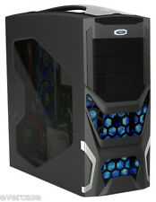 Black Gaming ATX Case / Chassis. No PSU. Takes up to 6 fans & 11 drives. RT-313