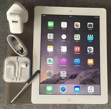 PERFECT Apple iPad 4th Gen 32GB, Wi-Fi + 4G (Unlocked), 9.7in - White + EXTRAS