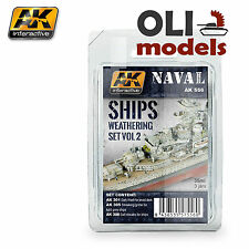 NAVAL SHIPS Weathering Set Vol.2 Enamel 3x35 ml - AK Interactive 556