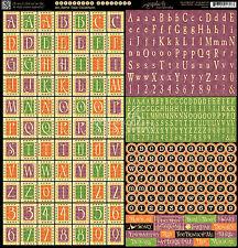 Graphic45 AN EERIE TALE ALPHABET 12x12 Sticker Sheet scrapbooking