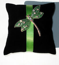 Dragonfly Brooch Designer Pillow Gift pin from Liz Claiborne line The Villager