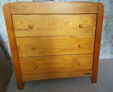 Mamas and Papas Golden Solid Pine Chest of Drawers with Changing Top