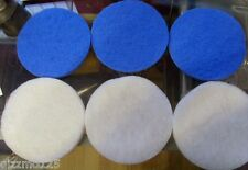 3 X COMPATIBLE FLUVAL FX5/6 FINE FILTER PADS + 3 WHITE POLISHING PADS FREE P&P
