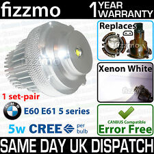 FIZZMO BMW e60 e61 5 series LCI 5w CREE LED ANGEL EYE RING SIDELIGHT 63127187952