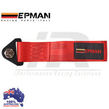 Universal Epman Tow Strap *RED* CAMS COMPLIANT Eye Hook Point Track Race JDM