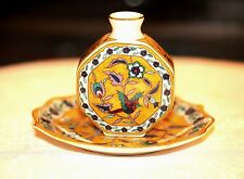 Vintage Chinese Porcelain Miniature  Set of Plate & Moon Flask Collectable