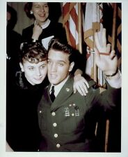 ELVIS PRESLEY POSTER PAGE . 1960 RETURNS FROM ARMY . NOT CD DVD M36