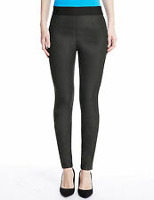 New Womens Marks and Spencer Black Leather Look Jeggings Size 10 Medium DEFECT
