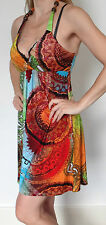 PARADISE Silky Smooth Multi Color Summer Dress Size S RRP £50