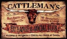 New! Cattlemans by Red Horse Signs Fine Western Art Print Home Wall Decor 739049