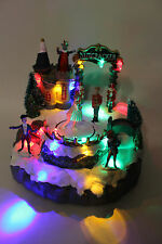 Christmas Decoration LED Fibre Optic Nutcracker Village Xmas Scene & Music
