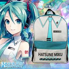 Hatsune Miku Student Large Casual Shoulder Backpack Black Men's Computer Bag