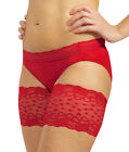 "Bandelettes Anti-Chafing Lace Thigh Bands 21""-32"" Romance Red"