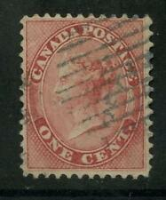 CANADA COLONY 1859 QV 1c ROSE... USED