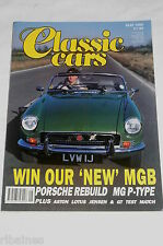 Classic Cars May 1989: MG P-Type/Jensen Interceptor/Reliant Scimitar/Lancia HPE