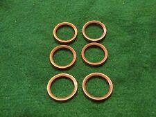 """Spark Plug Copper Gaskets; SIX 7/8"""" Chamffer-Shape: Early Buick Teens to 1924"""