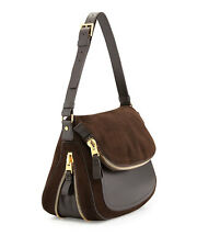 NWT TOM FORD Jennifer Brown Suede & Leather Shoulder Bag Purse Orig 3300