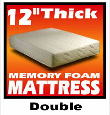 "12 INCH THICK - 4ft 6"" Double size Memory Foam Mattress"