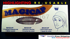 Magicap Highlighting Cap,RE-USABLE With Hook,Easy Coloring,All Hair Types,Unisex