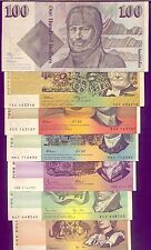 TYPESET of 7 NOTES: $100+$50+$20+$10+$5+$2+$1  aUNC  LOW  RESERVE